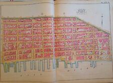 1891 E. ROBINSON LOWER MANHATTAN  SOUTH STREET SEAPORT ORIG MAP ATLAS 22 X 32