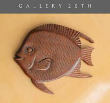 DELIGHTFUL MID CENTURY MODERN WOOD FISH WALL ART! VTG ART ATOMIC AGE DECOR 1950S
