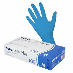 Pura Comfort Nitrilhandschuhe Einweghandschuhe / Einmalhandschuhe Blau - S,M & L