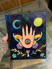 Original hand-painted acrylic Psychedelic painting on canvas by Star Dragon
