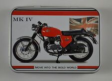Collectable BSA Spitfire MKIV Motorcycle Keepsake/Tobacco Tin. Garage/Gift NEW!