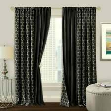 Prelude Reversible Blackout Rod Pocket Curtain Panel 50x63 black