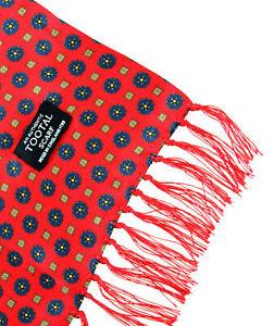 Tootal Red Mini Geo Print Silk Scarf