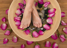 SALON SPA HEALTH BEAUTY PEDICURE MASSAGE POSTER  A4 260gsm
