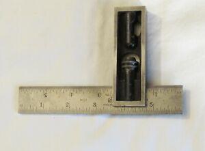 "Vintage L.S. Starrett No. 13 Double Square 6"" Ruler"