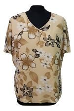 63ae777b9348d JACQUES VERT Top Size 16 Beige Cream Floral Wedding Evening Party  Christening