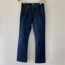 Lee Australia Trumpet Flare Mid Rise Vintage Style Dark Wash Jeans 10 B266