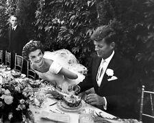 SEN. & MRS. JOHN F. KENNEDY AT RECEPTION FOLLOWING WEDDING - 8X10 PHOTO (AA-185)