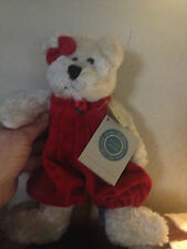 Boyd Adorable Red Velvet Jointed Bear 12""