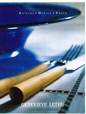 PUBLICITE ADVERTISING 1999 GENEVIEVE  LETHU  cuisine  table accessoires 10.3.13