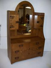 Beautiful Quarter Sawn Oak Art Nouveau Dresser