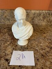 "Antique decorative Parian Ware Bust of Sir Walter Scott 5 1/2"" (2a)"