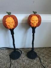 Department 56 Halloween Evil Pumpkin Lampposts #4033847 Free Shipping