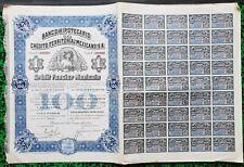 Mexique/Mexico - Action de 100 $ Non Annulée Banco Hipotecario du  01/01/1914