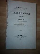 BARREAU DE POITIERS DISCOURS 25 JANVIER 1868 A L OUVERTURE DE LA CONFERENCE