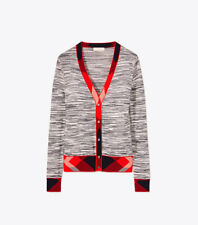 New! Tory Burch Arielle Cardigan Size XL Navy/Ivory/Red MSRP $328.00 Holiday