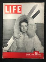 LIFE MAGAZINE - Jan 1944 - ALASKA / Mark Clark / New Guinea / George Biddle