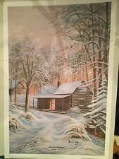 """Mountain Christmas"" by Arnold McDowell- Print-Numbered and signed-16x24"