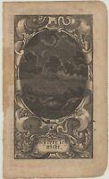 NEUMOND ASTRONOMIE Original Barock Ornament Kupferstich um 1690 Mond Rollwerk