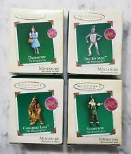 Hallmark Wizard Of Oz Miniature Ornament Set Dorothy Tin Man Lion Scarecrow