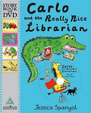 **NEW PB & DVD** Carlo and the Really Nice Librarian by Jessica Spanyol
