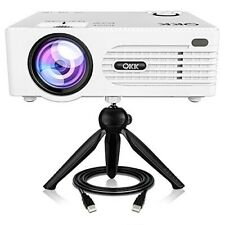 QKK 2200 lumen Mini Video Projector, Full HD LED, 1080P Supported with Tripod