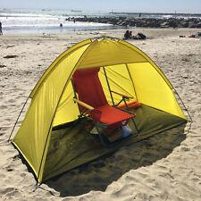 Yellow 2 person Pop Up Cabana Beach Shelter Baby Tent Sun Shade Outdoor UV