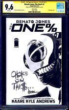 Renato Jones The One % #1 BLANK CGC SS 9.6 signed SKETCH Kaare Andrews NM+