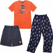 MLB Youth Detroit Tigers T-Shirt Boxer & Pant 3 Piece Sleep Set