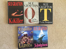 5 Sue Grafton Hardcover Mystery Novels - K, T, Q, J and L
