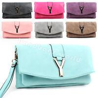 Ladies Womens Designer Leather Style Celebrity Shoulder Satchel Tote Handbag Bag