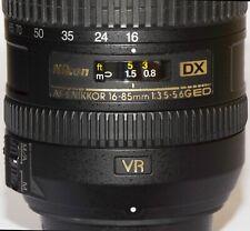 Nikon AFS DX 16-85 mm F/3.5-5.6 DX G SWM AF-S VR Aspherical ED Top,