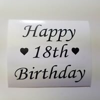 2X BIRTHDAY STICKER VINYL WINE GLASS BOTTLE GIFT 18TH 21ST 30TH 40TH 50TH 60TH