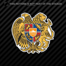 Armenian Coat of Arms Sticker Self Adhesive Vinyl Armenia flag ARM AM