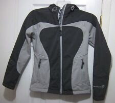FREE COUNTRY SPORT JACKET FLEECE LINING GRAY FULL ZIP HOODED WOMENS XS X-SMALL