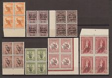AUSTRALIA BCOF 1946/7 SG J1/7A MNH BLOCKS Cat £760
