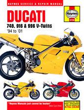 Haynes Manual 3756 - Ducati 748, 916 & 996 4-valve V-Twins (94 - 01)