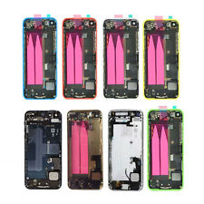 New Full Housing Middle Frame Back Battery Cover Case Parts For iPhone 5 5s 5c