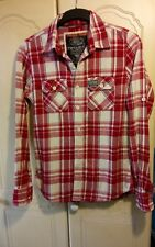 """MEN'S NEW Superdry 100% Cotton American Style Check Plaid shirt L 42"""" Chest"""