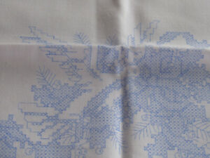 Vintage Herrschner's Pillowcases To Embroider Pair Dove & Holly Cross Stitch