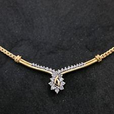 Gold Collier 585er Gelbgold 14K | 45cm | Brillanten ca. 0,45ct. | UVP 1499€