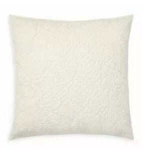 "Ralph Lauren Aldan 20"" x 20"" Cotton Feather Fill Decorative Pillow - Cream"
