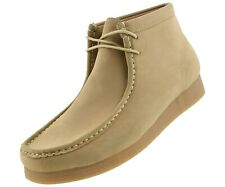Amali Men's High Top Desert Chukka Boots Casual Lace Up Moc Toe Suede Shoes