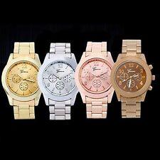 Hot Stylish Geneva Ladies Women Girl Unisex Stainless Steel Quartz Wrist Watch