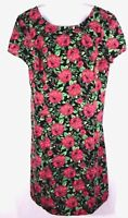 Forever 21 Plus Size 1X Sheath Dress Multi Color Floral Print Women Short Sleeve