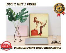 METAL Poster Coke Cola Vintage Pin Up Girl Art Print Plaque Gift