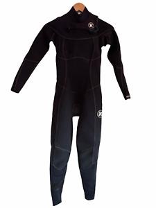 Hurley Womens Full Wetsuit Size 4 Phantom Chest Zip Black - Retail $380