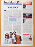 NIRVANA KURT COBAIN Coupure de presse 1 page 1992 – French clippings