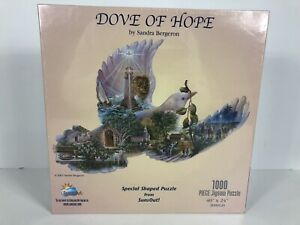 Sunsout DOVE of HOPE SHAPED JIGSAW PUZZLE 1000 PIECES by SANDRA BERGERON NEW