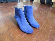 Vince Camuto Cobalt Blue Suede Leather Wedge Boots- 36 / 6